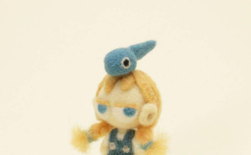 羊毛フェルト人形 オタマジャクシのタマちゃん