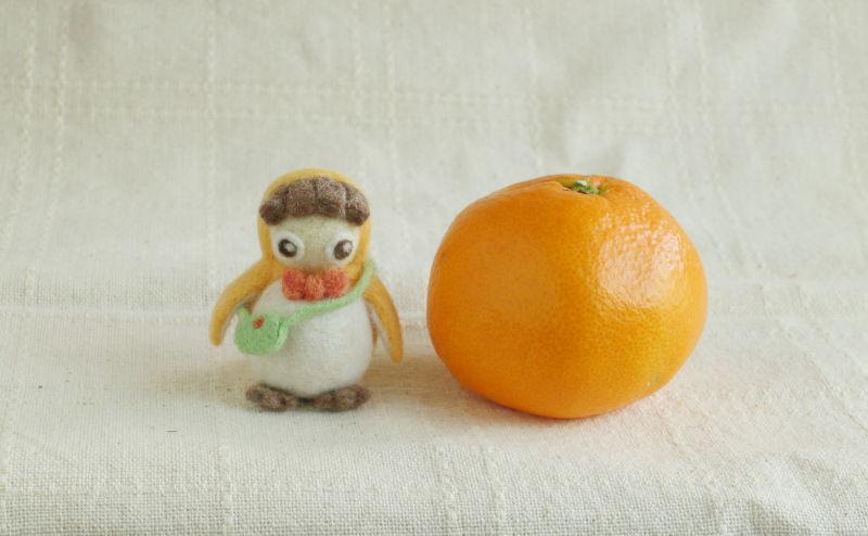 羊毛フェルト人形 ペンギン着ぐるみちゃん