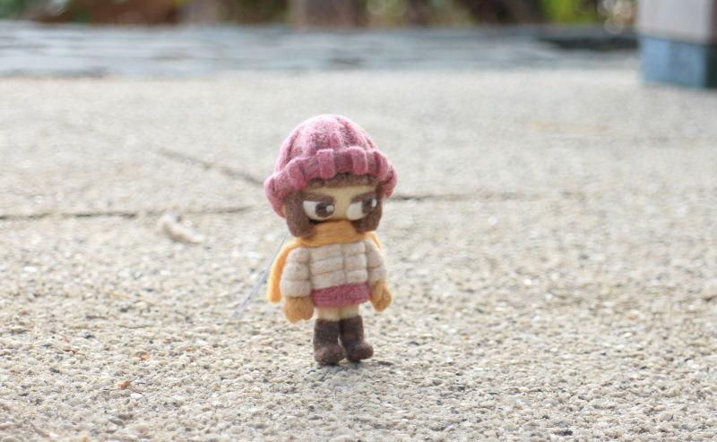 羊毛フェルト人形 イチ