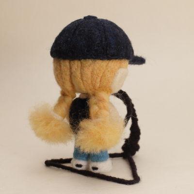 羊毛フェルト人形 オレンジ