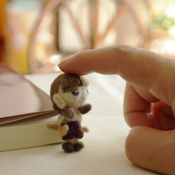 羊毛フェルト人形 マロン