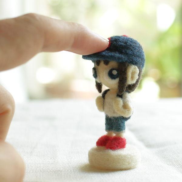 羊毛フェルト人形 タイム