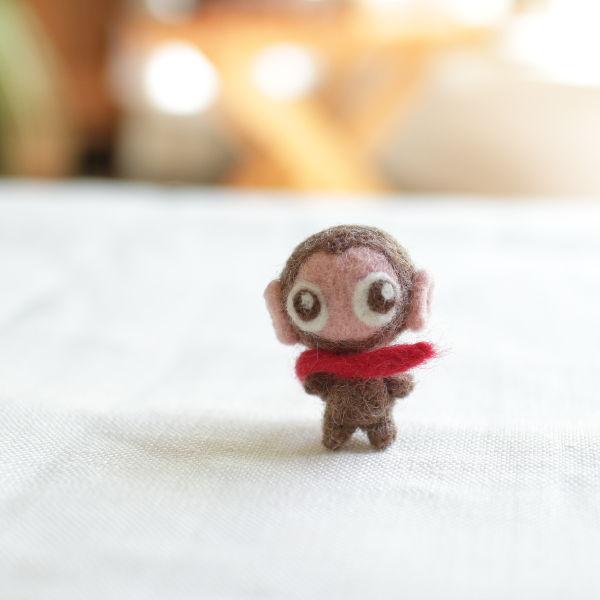 羊毛フェルト人形 モンキーライダー