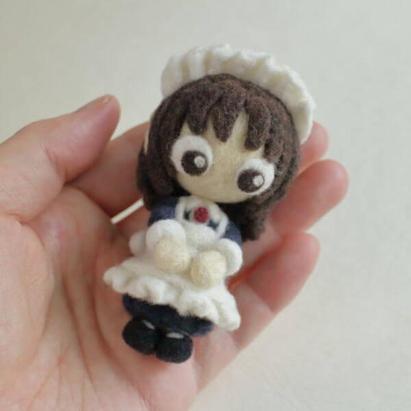羊毛フェルト人形 リン ver.メイド