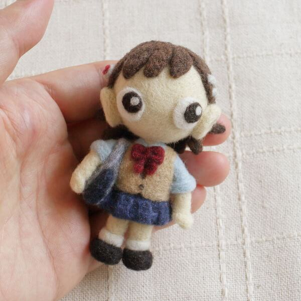 羊毛フェルト人形 なすび