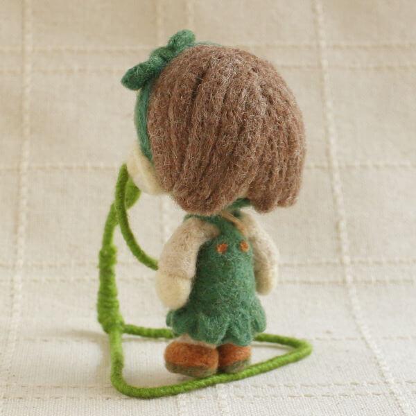 羊毛フェルト人形 オリーブ ver.森