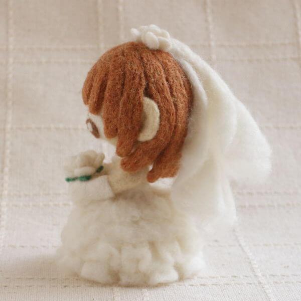 羊毛フェルト人形 リン ver.ウェディング