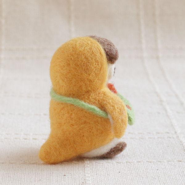 羊毛フェルト人形 ポテ