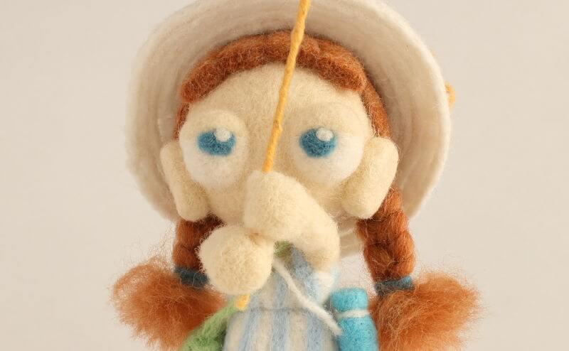 羊毛フェルト人形 そら