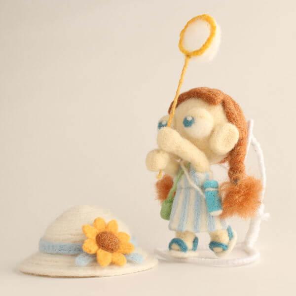 羊毛フェルト人形 すず