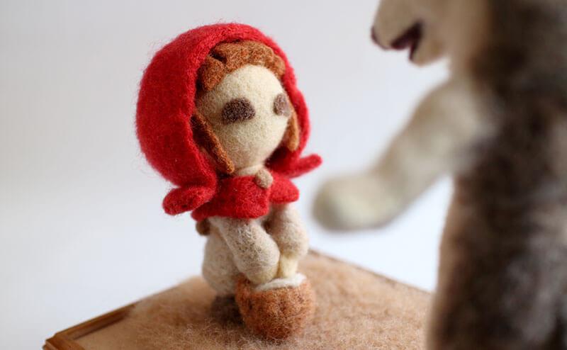 羊毛フェルト人形 あかずきん