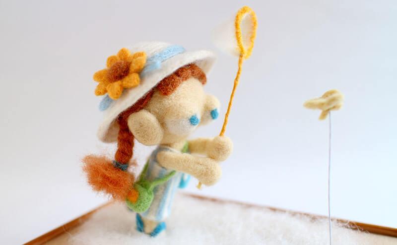羊毛フェルト作品 夏休み