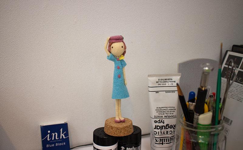 リラックス 羊毛フェルト人形